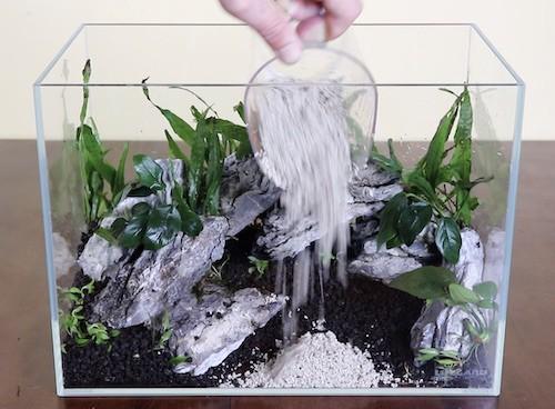 5 Gallon Aquascape With A Cave No Filter No Co2 Zenaquaria