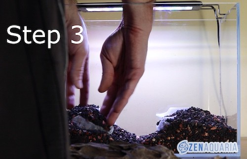 Creating hills in an aquascape.